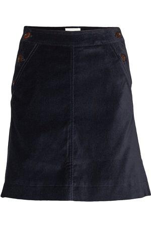 WoodWood Naiset Midihameet - Ebba Skirt Polvipituinen Hame Sininen