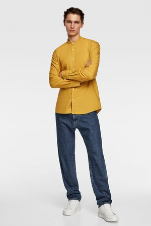 Zara Oxford shirt with stand-up collar