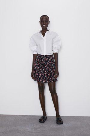 Zara Printed mini skirt with ruffle trims