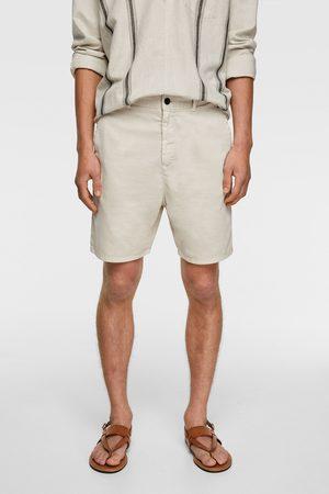 Zara Textured bermuda shorts