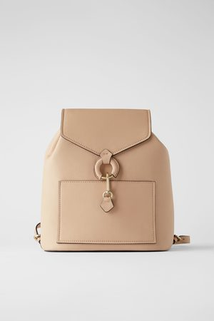 Zara Backpack with ring detail and front flap
