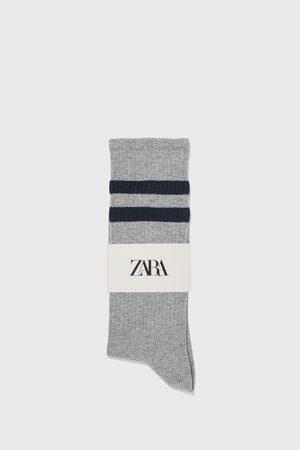 Zara Ribbed socks with stripes