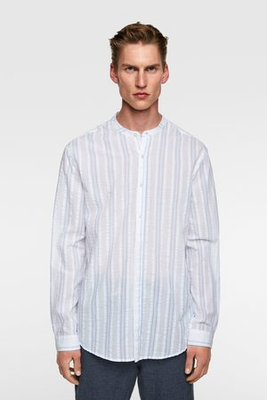Zara Miehet Striped seersucker shirt