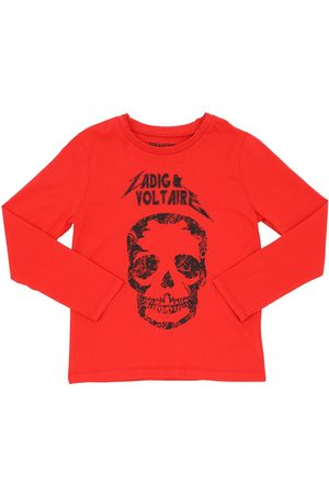 Zadig & Voltaire Skull Print L/s Cotton Jersey T-shirt