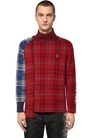 OFF-WHITE Miehet Neuleet - Check Wool Blend Knit Sweater