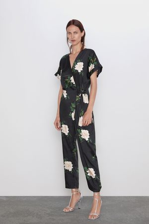 Zara Printed wrap jumpsuit
