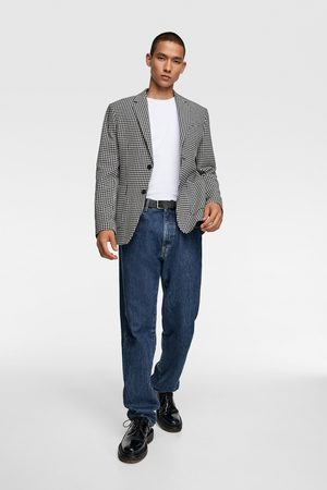 Zara Textured check blazer