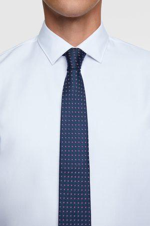 Zara Geometric jacquard wide tie