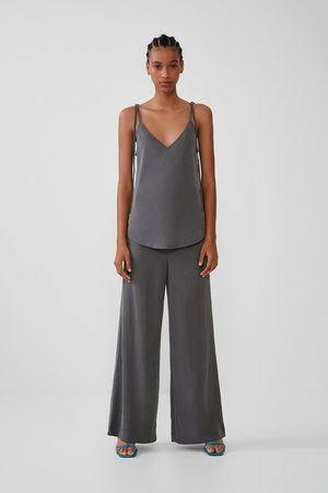 Zara Wide drapey trousers