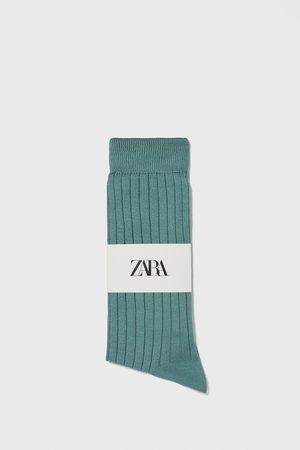 Zara Ribbed mercerised socks