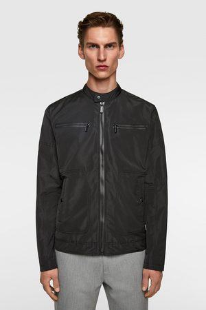 Zara Miehet Nahkatakit - Technical biker jacket