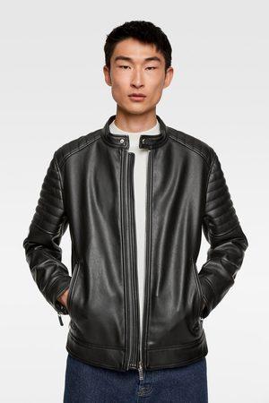 Zara Miehet Talvitakit - Faux leather biker jacket