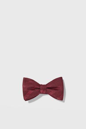 Zara Striped jacquard bow tie