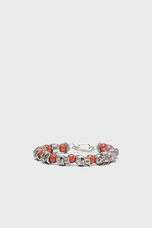 Zara Miehet Rannekorut - Beaded skull bracelet