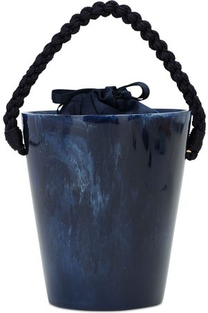 Montunas Naiset Lompakot - Lirio Acetate Bucket Bag W/ Navy Rope