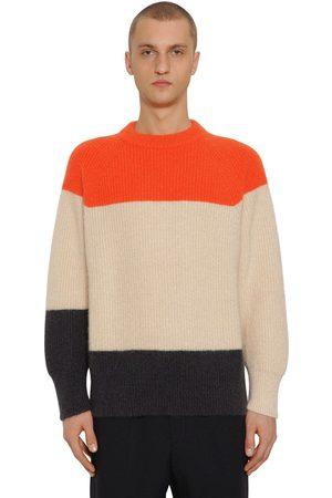 Jil Sander Miehet Neuleet - Striped Mohair & Wool Knit Sweater