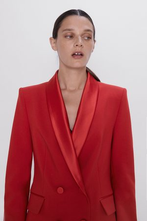 Zara Naiset Bleiserit - Double-breasted blazer with shawl collar