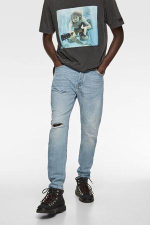 Zara Ripped slim fit jeans