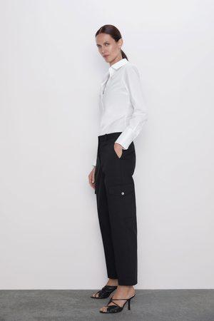 Zara Naiset Reisitaskuhousut - Cargo pocket trousers