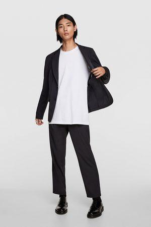 Zara Miehet Bleiserit - Striped texture suit blazer