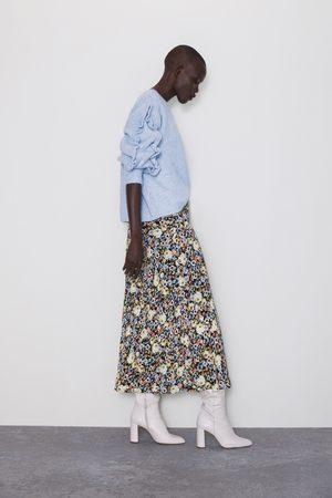 Zara Naiset Printtihameet - Floral print skirt