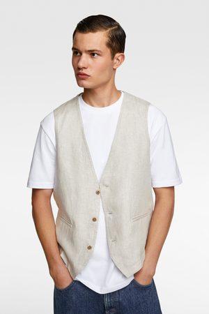 Zara Miehet Liivit - Linen waistcoat