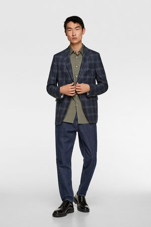 Zara Miehet Bleiserit - Windowpane checked suit blazer