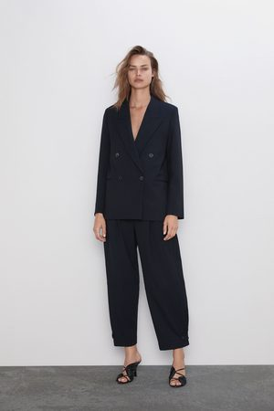 Zara Pinstripe double-breasted blazer