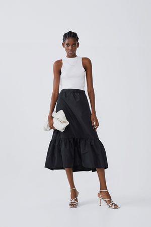 Zara Frilled midi skirt