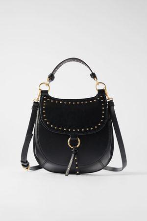 Zara Studded equestrian crossbody bag