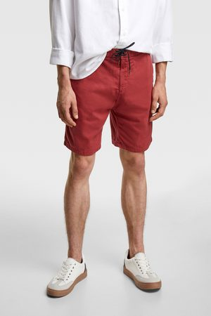 Zara Rustic bermuda shorts with cord detail