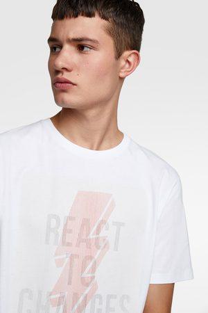 Zara T-shirt with holographic slogan
