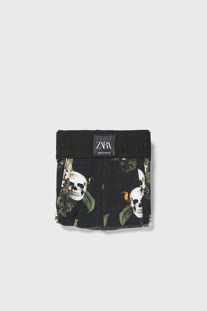 Zara Skull print boxers