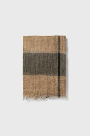 Zara Striped jacquard scarf