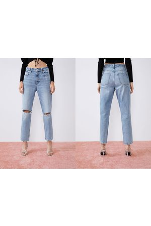 Zara Ripped mom fit jeans