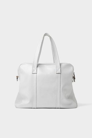 Zara Leather bowling bag