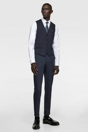 Zara Miehet Liivit - 4-way comfort knit check suit waistcoat