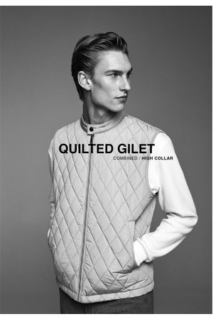 Zara Combined quilted gilet