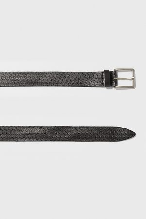 Zara Braided embossed leather belt