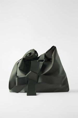 Zara Technical fabric xxl maxi bucket bag