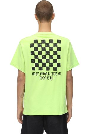 ASKYURSELF Memories Checker Neon Cotton T-shirt