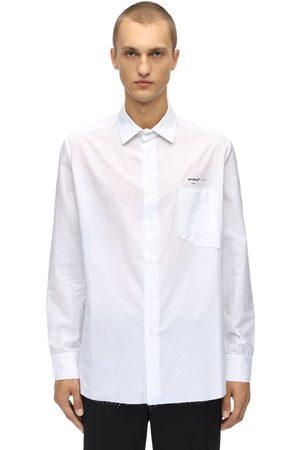 OFF-WHITE Miehet Striped Classic Cotton Shirt