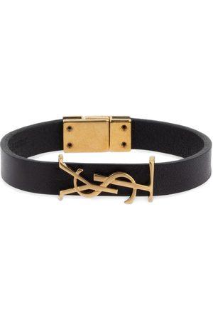 Saint Laurent Naiset Rannekorut - Single Wrap Ysl Leather Bracelet
