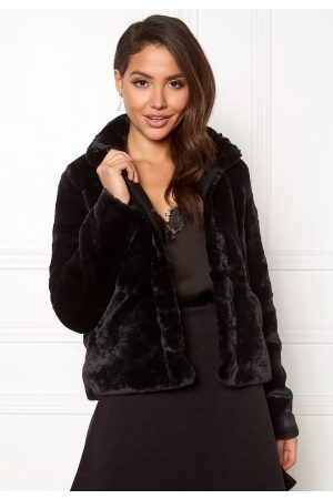 Only Vida Faux Fur Jacket Black XS