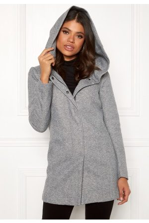 Only Sedona Light Coat Light Grey Melange XS