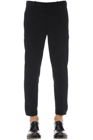 Neil Barrett Cotton Velvet Pants W/ Zip Cuffs