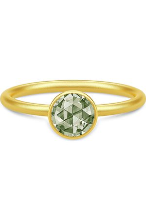 Julie Sandlau Naiset Sormukset - Cocktail Ring Small - Gold/Dusty Green Sormus Korut Vihreä