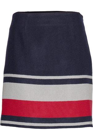 Tommy Hilfiger Fluffy Mini Skirt, 0 Lyhyt Hame Sininen