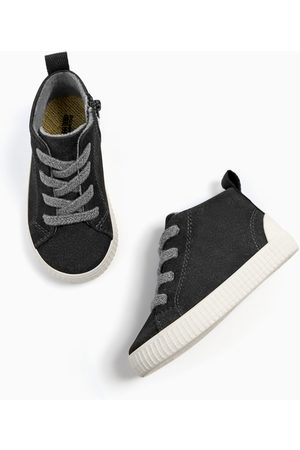 Zara HIGH-TOP SNEAKERS WITH ZIP