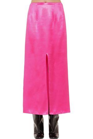 Marni High Waist Satin Midi Skirt